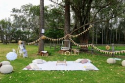 Vintage rustic styled picnic